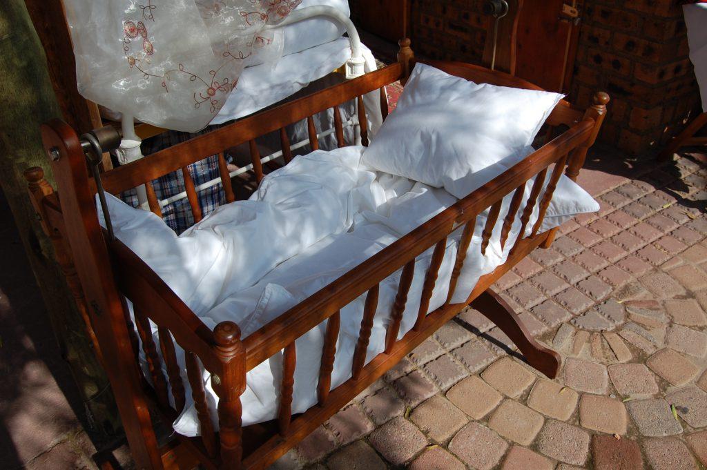 Hand-made traditional baby crib