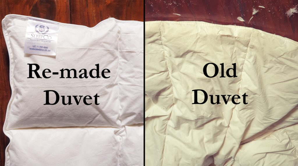 Remade vs old duvet
