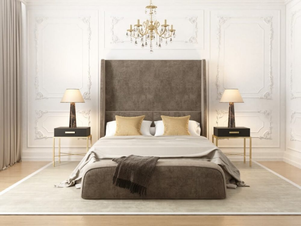 Sophisticated bedroom styling